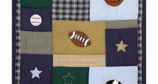 A Sports Quilt that is similar to a quilt I did for a baby quilt :)