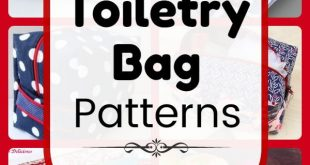 Bag DIY: 25 Free Toiletry Bag Patterns, diy projects, and sewing tutorials. Zipp...