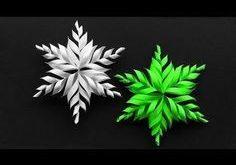 Basteln für Weihnachten: DIY Schneeflocken basteln mit Papier. Wie man mit Papi...