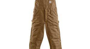 Carhartt Duck Zip-To-Thigh Quilt-Lined Bib Overalls for Men
