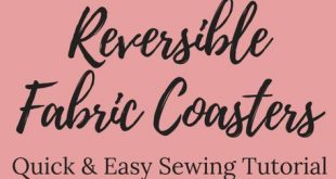 DIY Easy Reversible Fabric Coasters