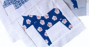 Dala Horse quilt block tutorial by Nicola Dodd...