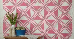"""Fabulous Vintage """"Lady of the Lake"""" Pink & White QUILT King Usable! 104x79"""""""