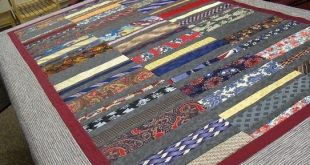 Handmade Neck Tie Quilt......Retirement Quilt... Memory Quilt