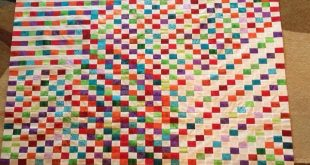 Henie squares optical delight Baby blocks. I salute the patience this took. Lov...