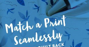 Match a Print Seamlessly On Your Quilt Back