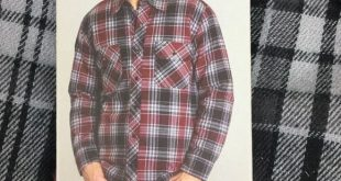 Men's BC Clothing Quilted Shirt Jacket RED PLAID NEW Men's BC Clothing Q...