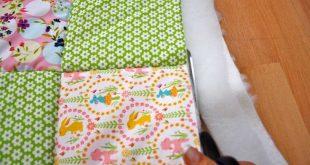 Patchworkdecke quilten - Anleitung wie man eine Decke näht