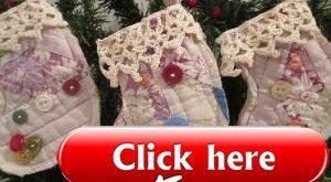 Quilt Christmas StockingChristmas Ornament Vintage Quilt Primitive Stocking  Qui...