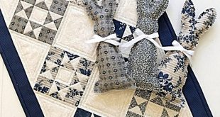 Quilt Patterns PDF Star Quilt Pattern and Bunny Pattern Primitive Quilt Patterns Mini Quilt Pattern Doll Quilt Table Runner
