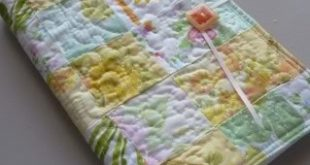 Quilted list taker using repurposed vintage linens #listtaker #sewing #quilting ...