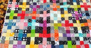 Rainbow Scrappy Charming Plus Quilt