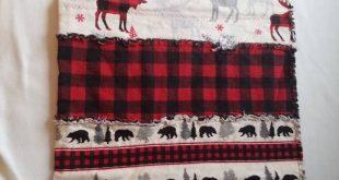 Rustic Woodland Buffalo Plaid Moose and Bear Rag Quilt Rustic | Etsy