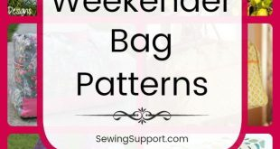 Sew for kids with 20 Free Weekender Bag patterns, tutorials, and diy sewing proj...