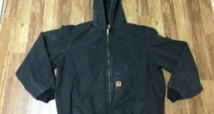 (eBay Sponsored) MENS 2XL TALL - Vtg Carhartt J130 Sandstone Flannel Quilted Lin...
