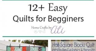 12+ Easy Quilt Tutorials for Beginners - These pretty quilts are perfect for som...