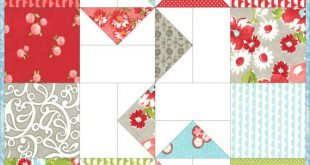 Charm Square Table Runner Pattern, Windmills Quilted Table Runner Pattern, Beginner Quilt Pattern, Instant Download wallhanging PDF
