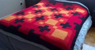 24 trendy crochet patterns for men blankets colour