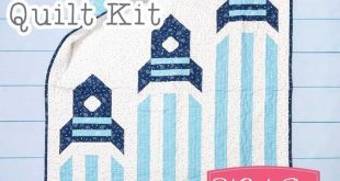 3 2 1 Blast Off Flannel Quilt Kit Featuring Soft & Sweet Flannel by Stacy Iest H...