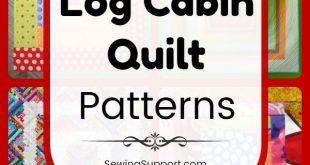 60 Free Log Cabin Quilt Patterns - #Cabin #free #Log #logcabins #patterns #Qui
