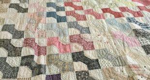 Antique Bow Tie Quilt/ Antique Quilt/ Antique County Quilt/ Bow Tie Quilt/ Country Decor Quilt
