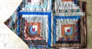 Antique Quilt Piece | Vintage Quilt Piece | Old Quilt | Cutter Quilt | Hand Sewn | Repurpose Quilt | Quilt Remnant | Calico Primitive Fabric