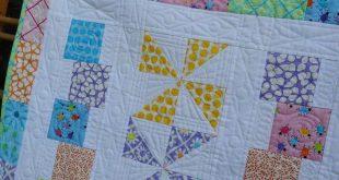 Baby Quilt Pattern - Tumbles & Twirls with Bonus Scrap Quilt - Hard Copy Version