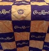 CROWN ROYAL BAG QUILT MADE FROM