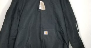 Carhartt Men's Quilted Flannel Lined Duck Jacket Carhartt Quilted Flannel Li...