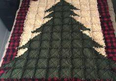 Christmas Tree Rag Quilt | Etsy