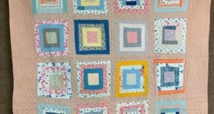 Details about Country Farmhouse c 1930s Log Cabin VINTAGE Quilt Feedsack Chicken