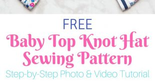 Double Top Knot Baby Hat Free Sewing Pattern