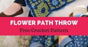 Flower Path Throw [ FREE CROCHET PATTERN
