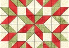 Free Christmas Quilt Patterns | With so many half-square triangles, I wanted to ...