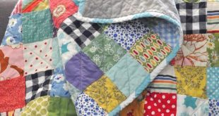 """I am loving scrap quilts lately. I am calling this one """"Potluck*"""" because it&#39..."""