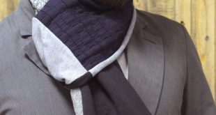 Infinity scarf for men in black and gray colors, neck warm garment for men, knitwear long snood for Winter and Autumm