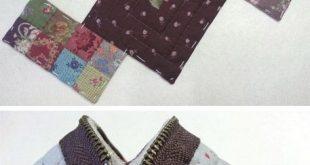 Kleiner Reißverschluss-Geldbeutel. Quilten und Patchwork ~ Nähprojekte für Anfänger