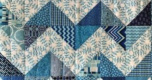 "Modern Baby Quilt; ""Olivia II""; Unique; Blue; Teal; Chevron Pattern; Baby Quilt; Baby Blanket; Lap Quilt; Play Mat; Wall Art"