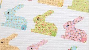 New Quilt Pattern / Neue Patchwork Anleitung: Hippity Hoppity - Easter Bunny Quilt