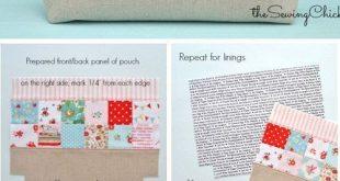 Patchwork-Reißverschluss-Pocket-Tutorial #patchwork #pack # Tutorial #newing