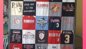 Put all those old t-shirts to good use by sewing a memory t-shirt quilt. Simple...