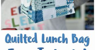 Quilted Lunch Bag (with Video Tutorial)