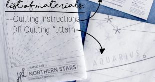 Quilting For Beginners: My First DIY Constellation Quilt, Part One