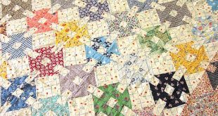 RESERVED for Millie Vintage Patchwork Quilt top Hand sewn Country Home 2019 RE...