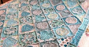 "Rag Quilt ""Diamonds in the Rough""  PDF PATTERN-TUTORIAL  2 sizes -  Lap Quilt -Throw 45"" X 56"" & lar"