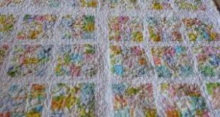 Repurposed vintage linens quilt #quilt #quilting #vintage #linens #repurposed