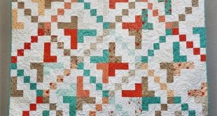 Romantic Lap Quilt | Coral and Teal Quilt | Country Quilt | Country Throw