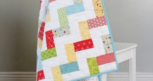 Stairway Baby Quilt - a free quilt pattern