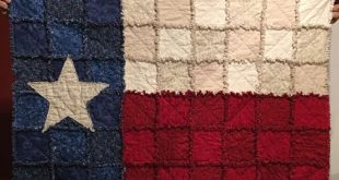 Texas flag rag quilt throw or wall hanging 2019 Texas flag rag quilt throw or ...