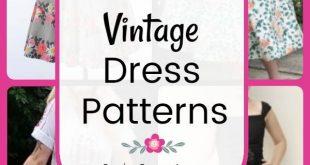 Vintage Dress Patterns: 17 free vintage dress patterns, tutorials, and diy sewin...